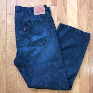 Levi's 559 Dark Wash Relaxed Straight Jeans 40x 30